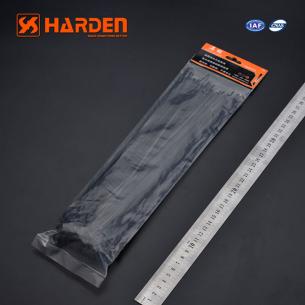 Opaski zaciskowe czarne 300x2.5mm HARDEN