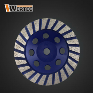Tarcza garnkowa do szlifowania turbo 125mmxM14 WERTEC