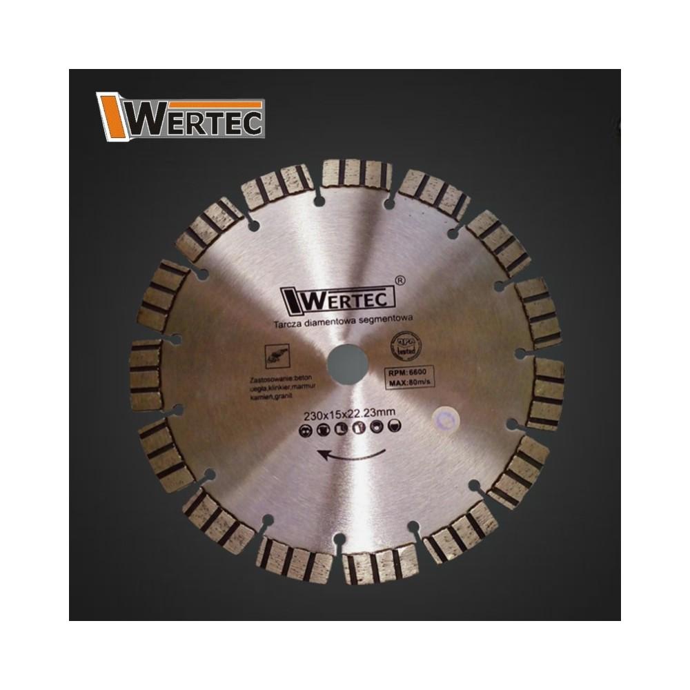 TARCZA DIAMENTOWA 230X15MM LASER WERTEC