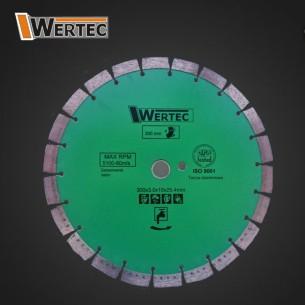 Tarcza diamentowa 350x15x25,4 WERTEC BETON silver