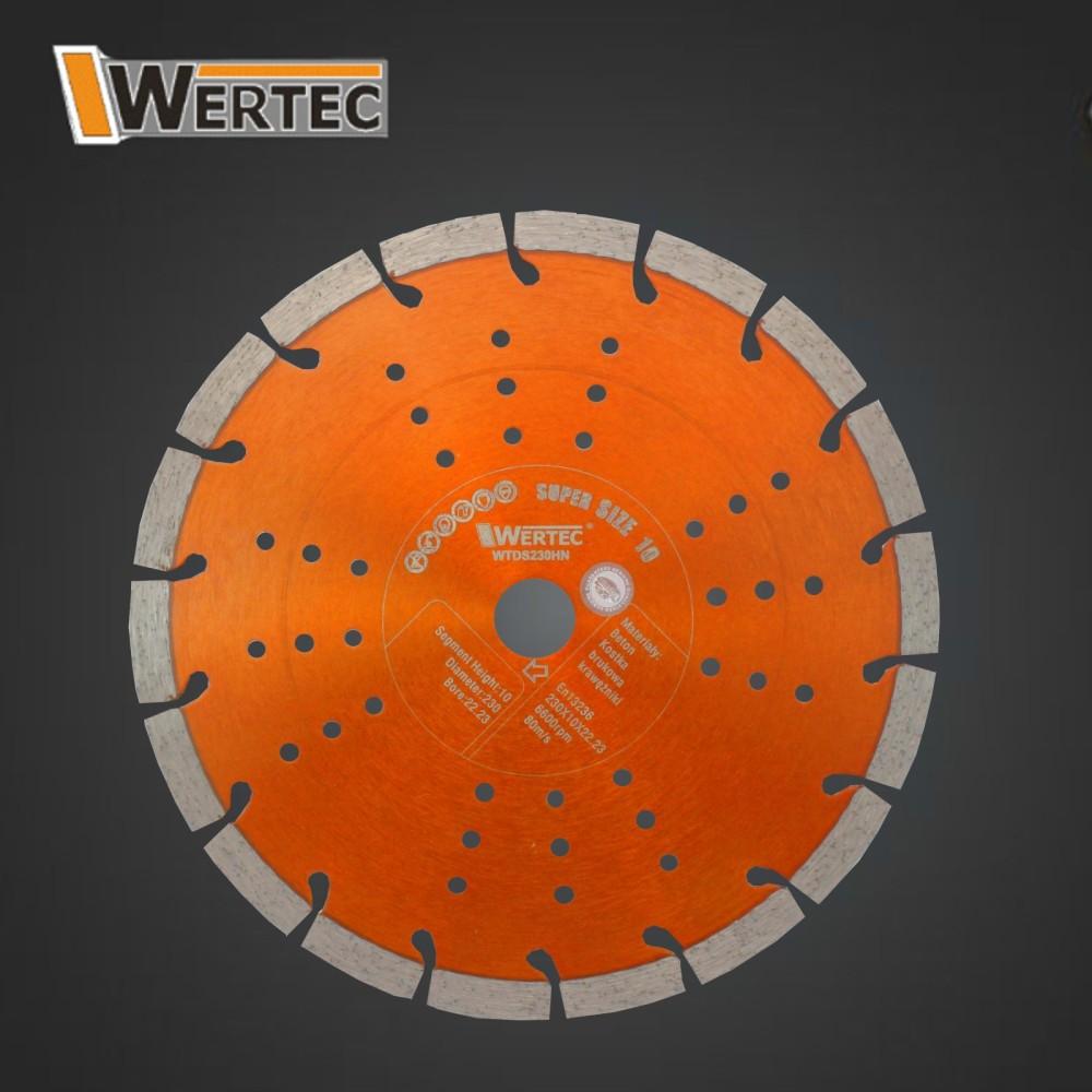 Tarcza diamentowa 230x10x22,23mm WERTEC HN
