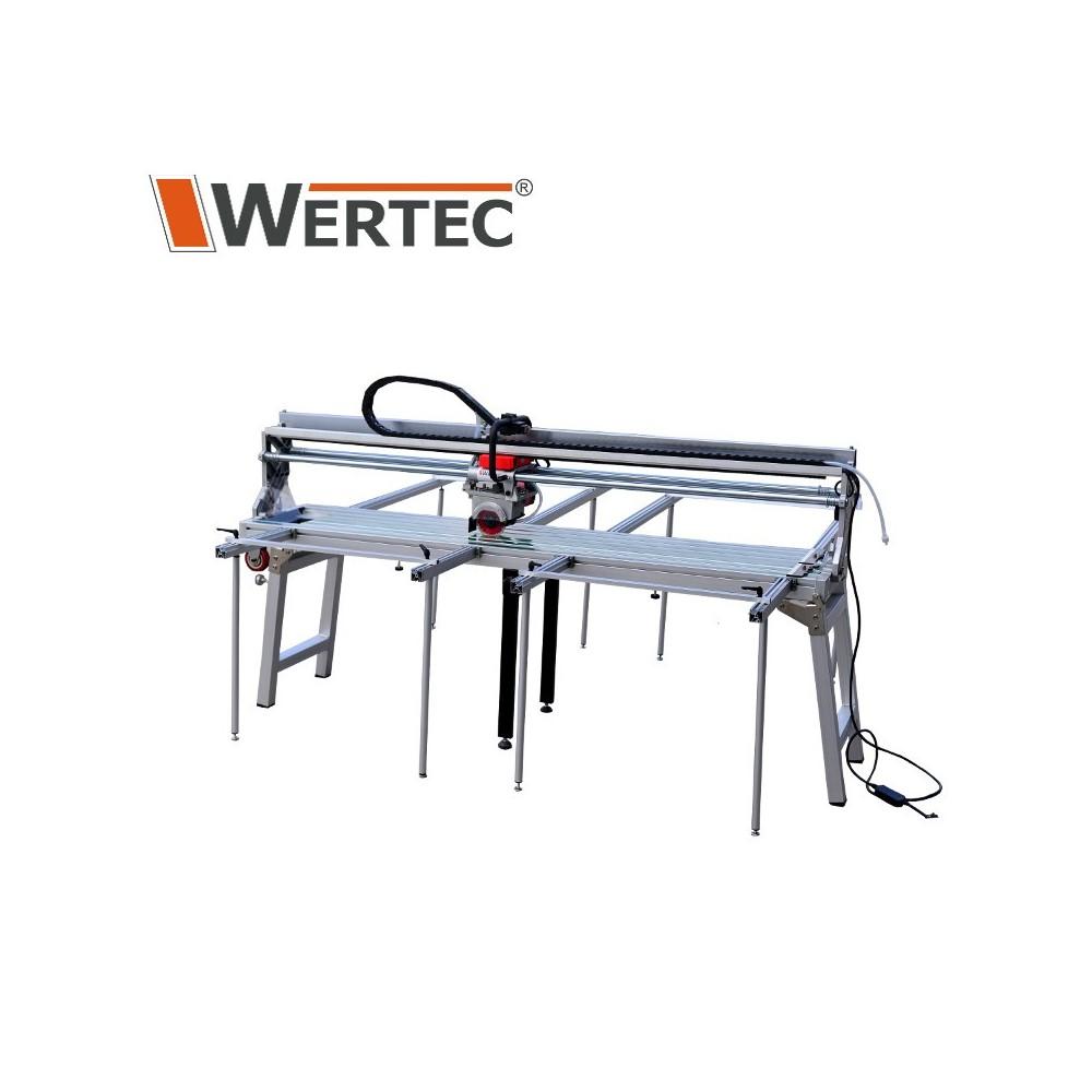 Przecinarka stołowa wodna do ciecia płytek z automatycznym posuwem 1800mm 2300W WERTEC