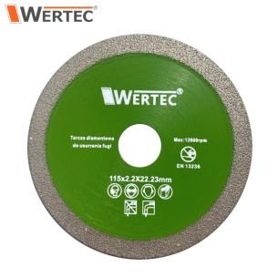 Tarcza diamentowa do usuwania fugi 115x1,2x22,23mm WERTEC