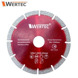 Tarcza do cięcia gresu marmuru 125x1,2x22,23mm WERTEC