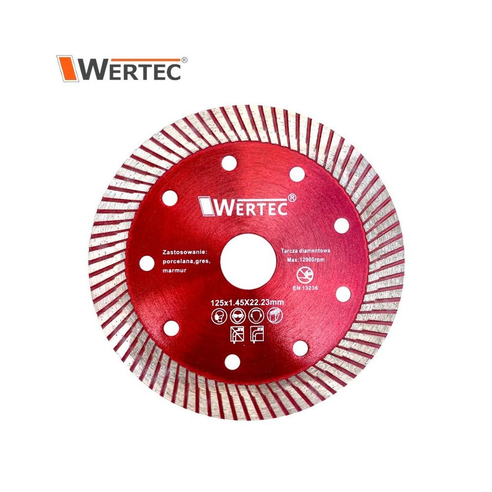 Tarcza do cięcia gresu 125x1,45x22,23mm WERTEC
